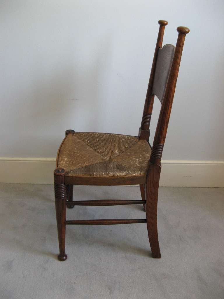 Set of six Arts and Crafts dining chairs by William Birch
