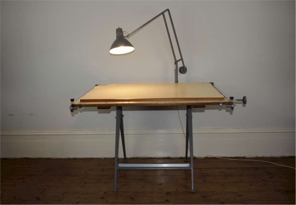 Draftsmans table designed in 1963 by Friso Kramer and Wim Rietveld for Ahrend