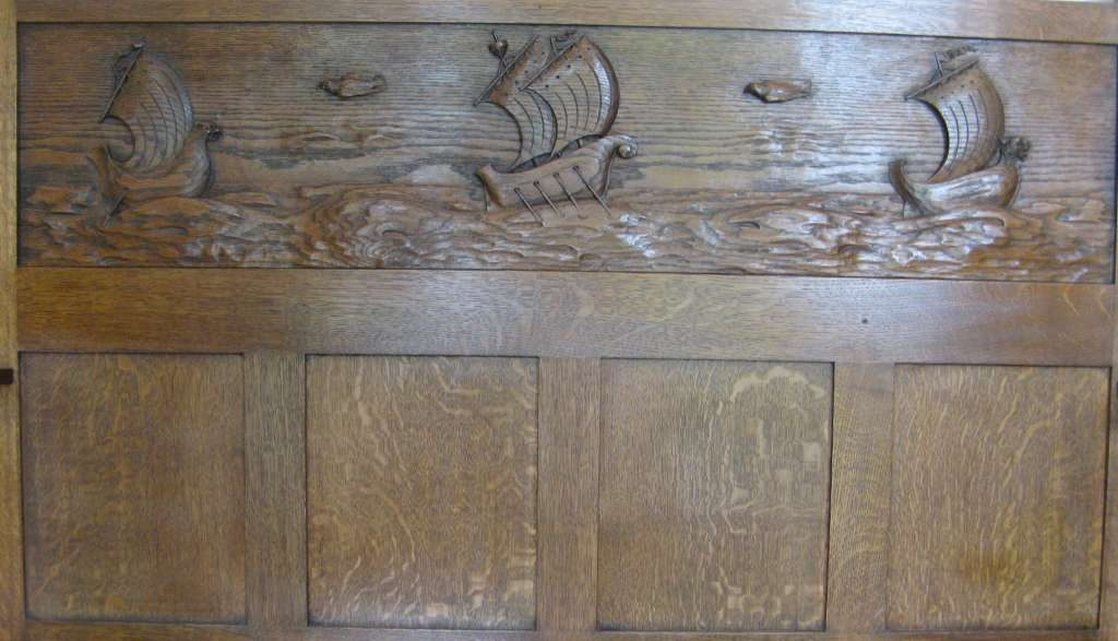 Stunning Scottish Arts and Crafts dresser with well carved galleons