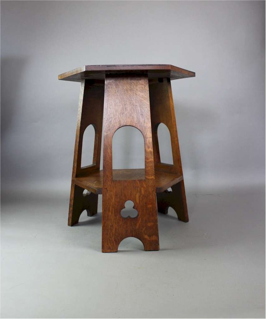 Arts and Crafts occasional table in quarter sawn oak