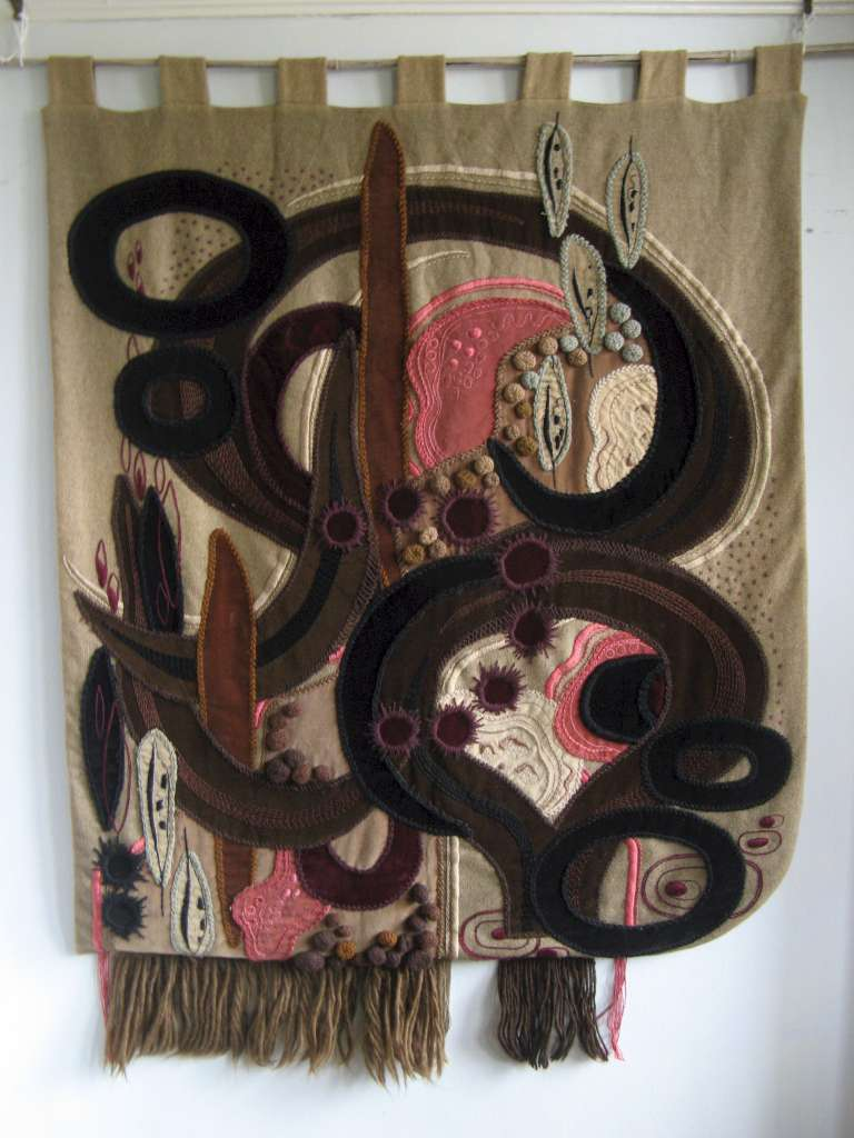 1960's applique wall hanging