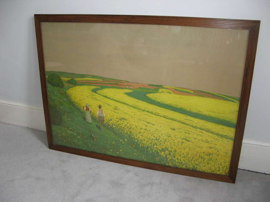 Retailed through Heals in the 1930's a framed print