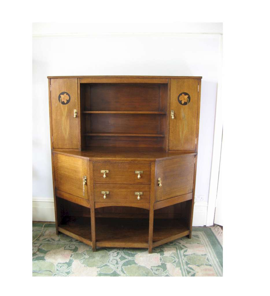 English Arts and Crafts Movement oak dresser by M H Baillie-Scott