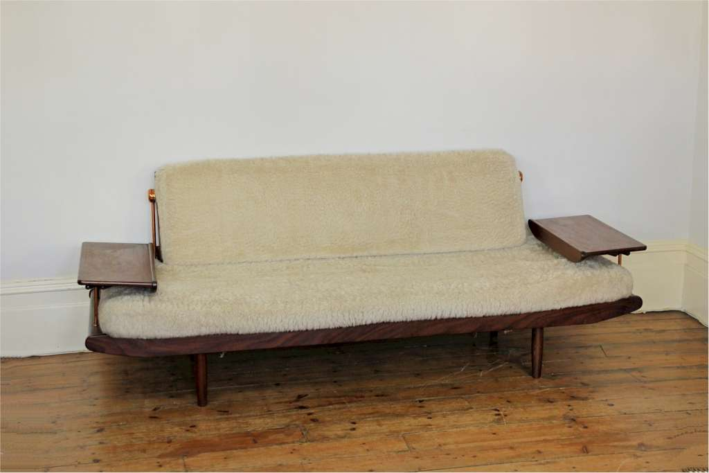 Danish style mid-century sofa bed produced in the early 60s by British company Toothill