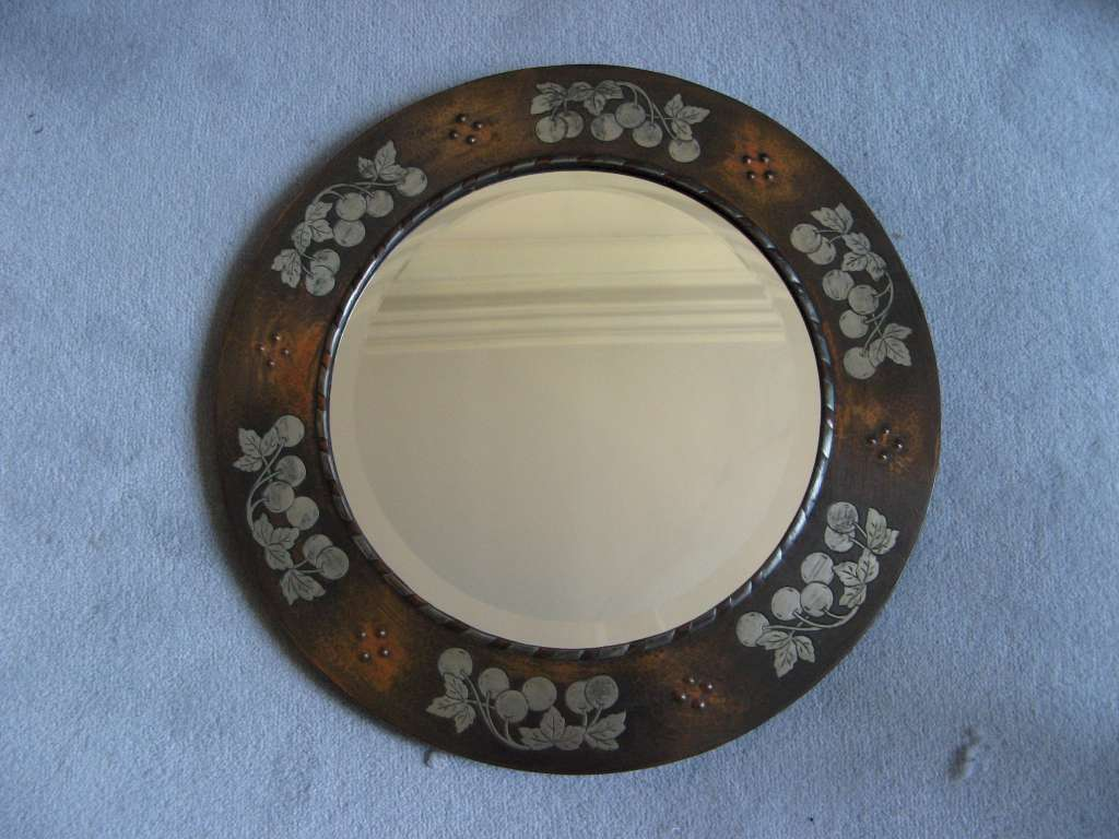 Arts and Crafts mirror by Harold Holmes