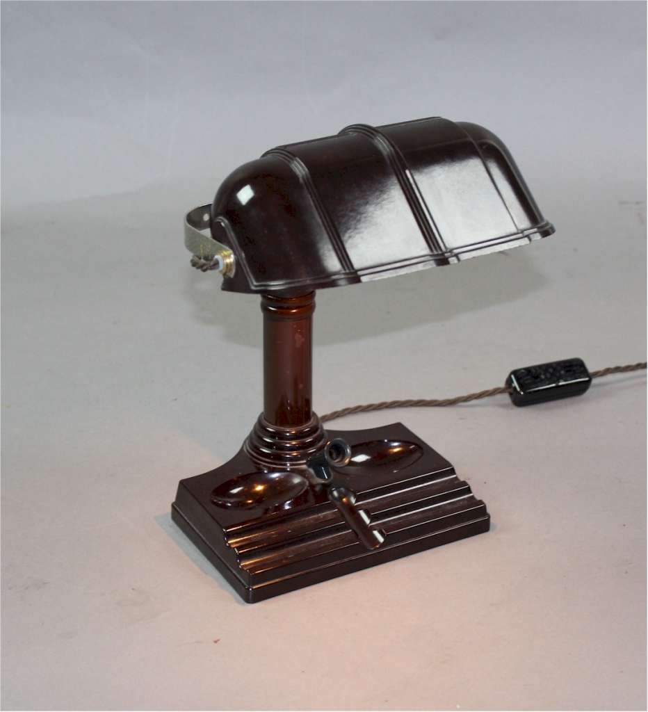 Art Deco Bakelite desk lamp. American
