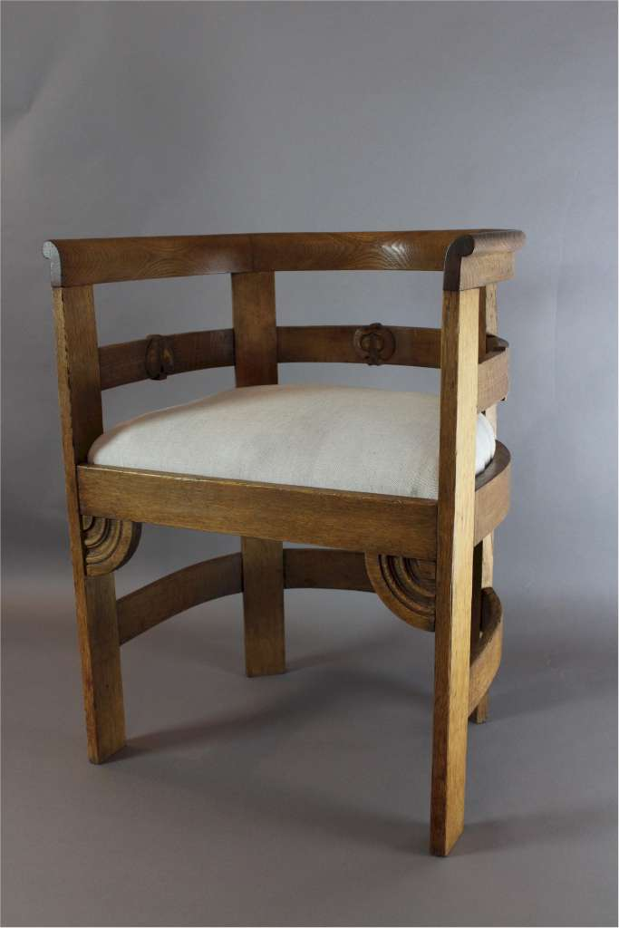 Liberty & Co oak Arts and Crafts tub chair