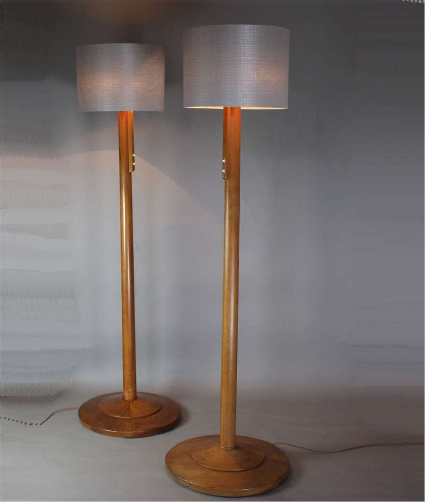 Wonderful pair of Modernist floor lamps