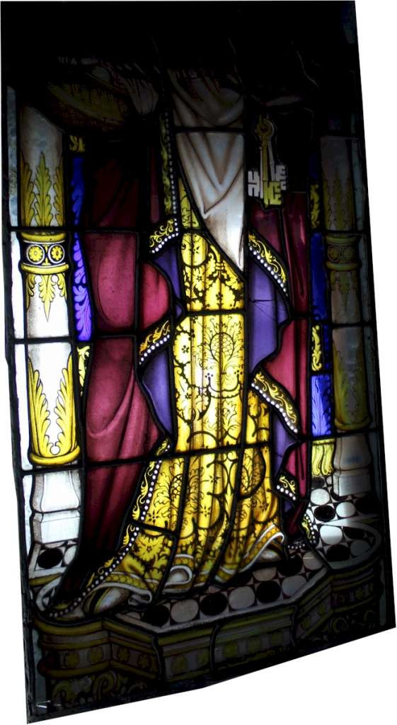 Victorian Church leaded panels of a Saint