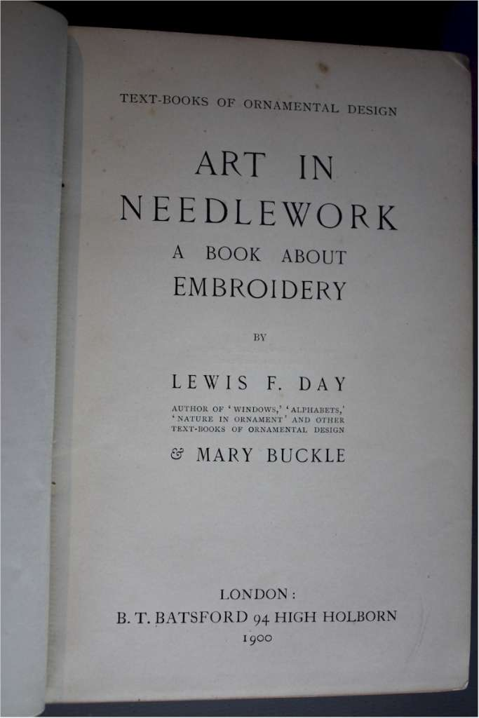 Art in Needlework by Lewis F Day c1900
