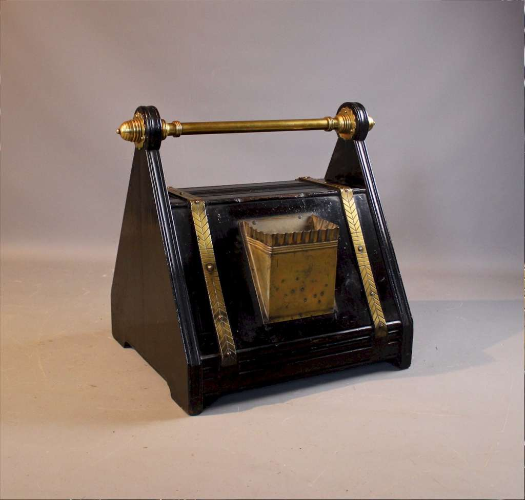 Aesthetic Movement coal scuttle by Dresser