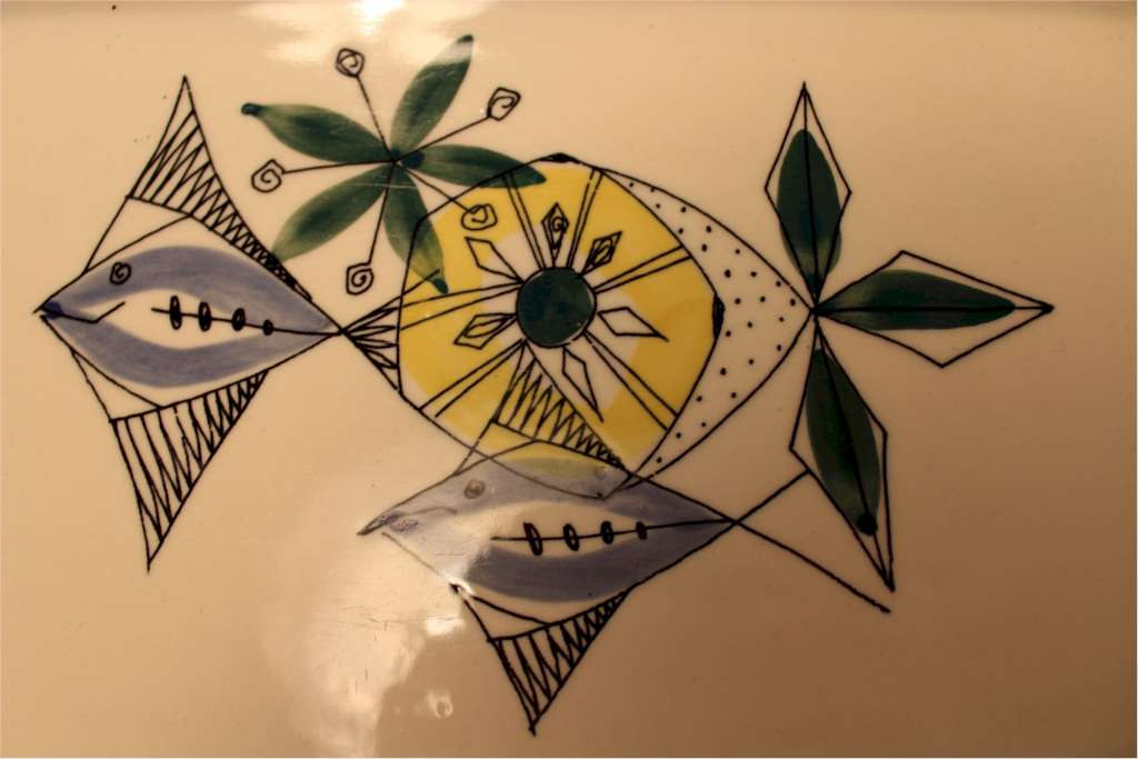 Two Mid-Century dishes by Stavangerflint NORWAY