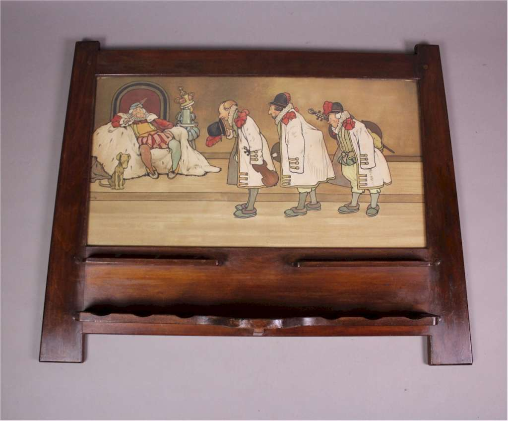 Liberty & Co Pipe rack with John Hassall Litho c1900