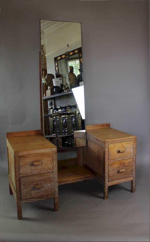Heals 1930's limed oak dressing table from the Russet range