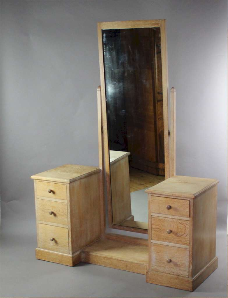 Limed oak 1930's dressing table by Heals