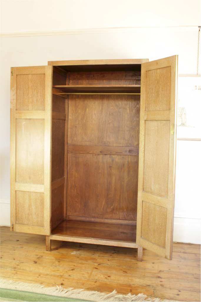 heal limed oak wardrobe