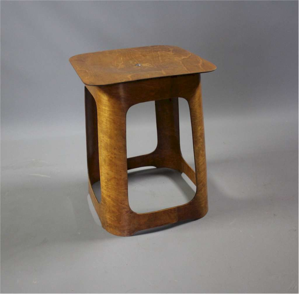 Isokon laminated birch plywood stool by Venesta 1930's