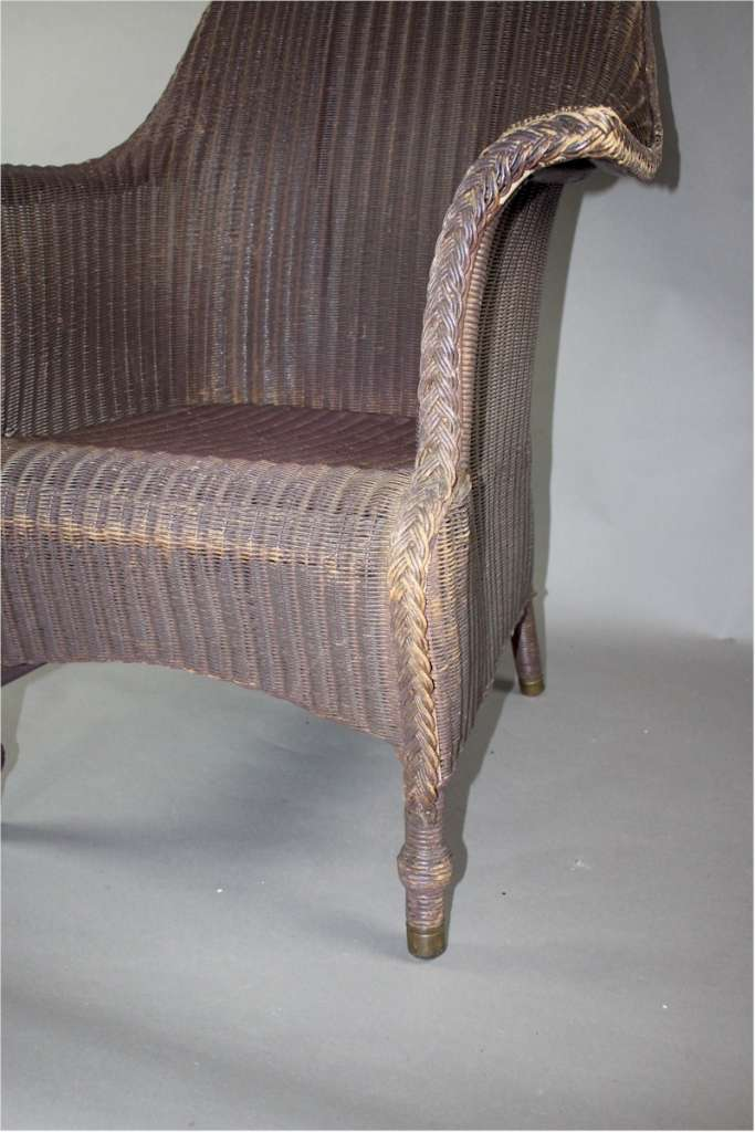 Large original Lloyd Loom armchair c1930's