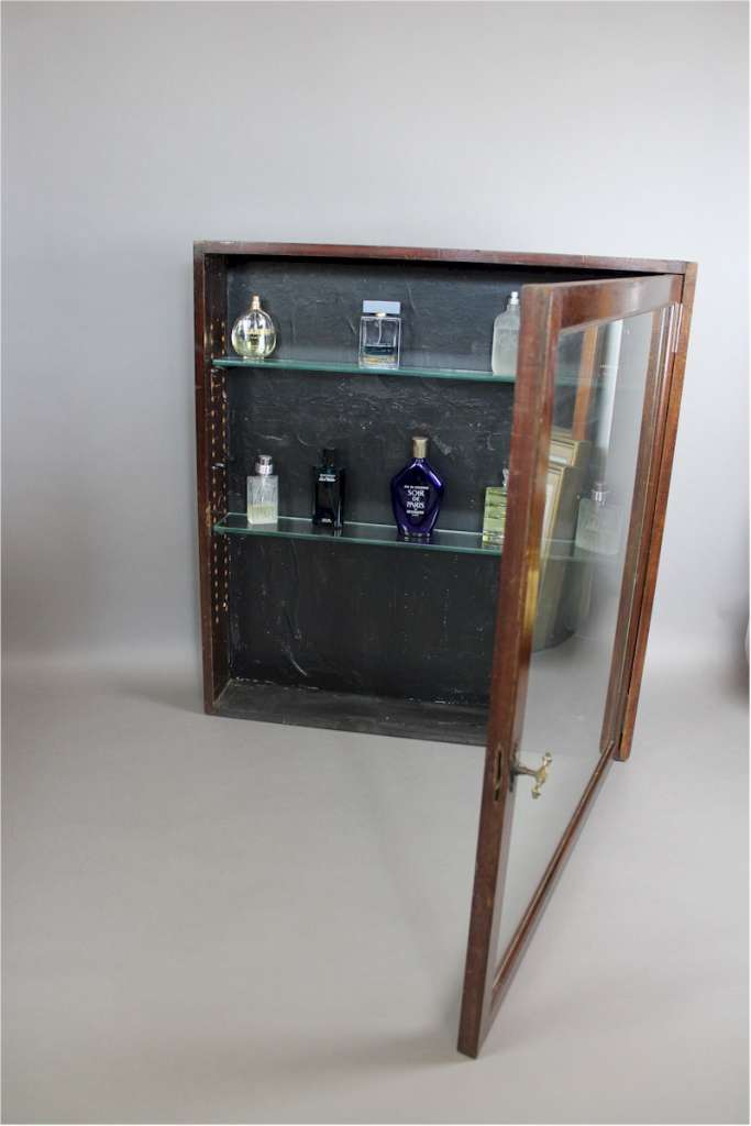 Victorian mahogany shop display cabinet