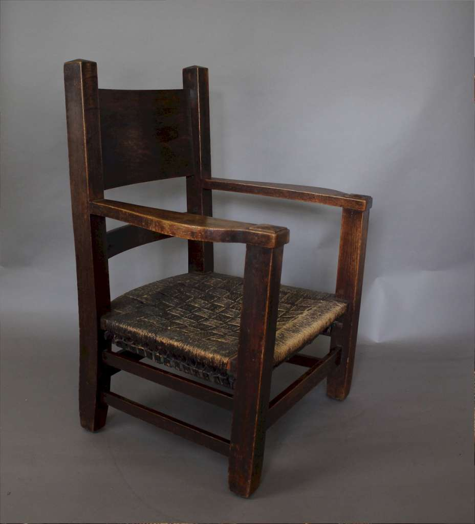 American arts and crafts Mission armchair