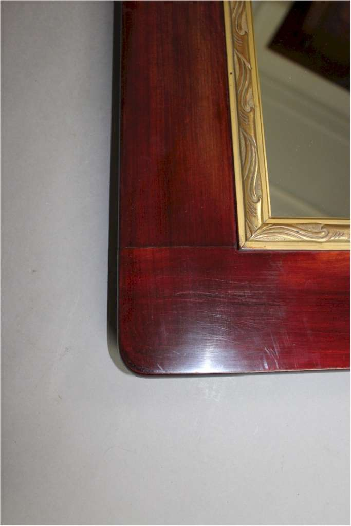 Pair of mahogany art nouveau mirrors c1900
