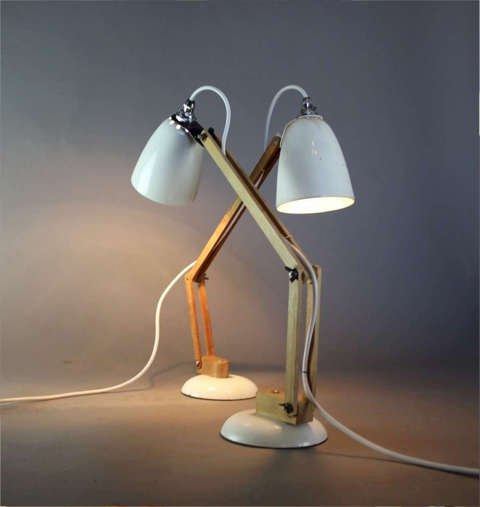 Retro pair of Maclamps by Terence Conran 1970's