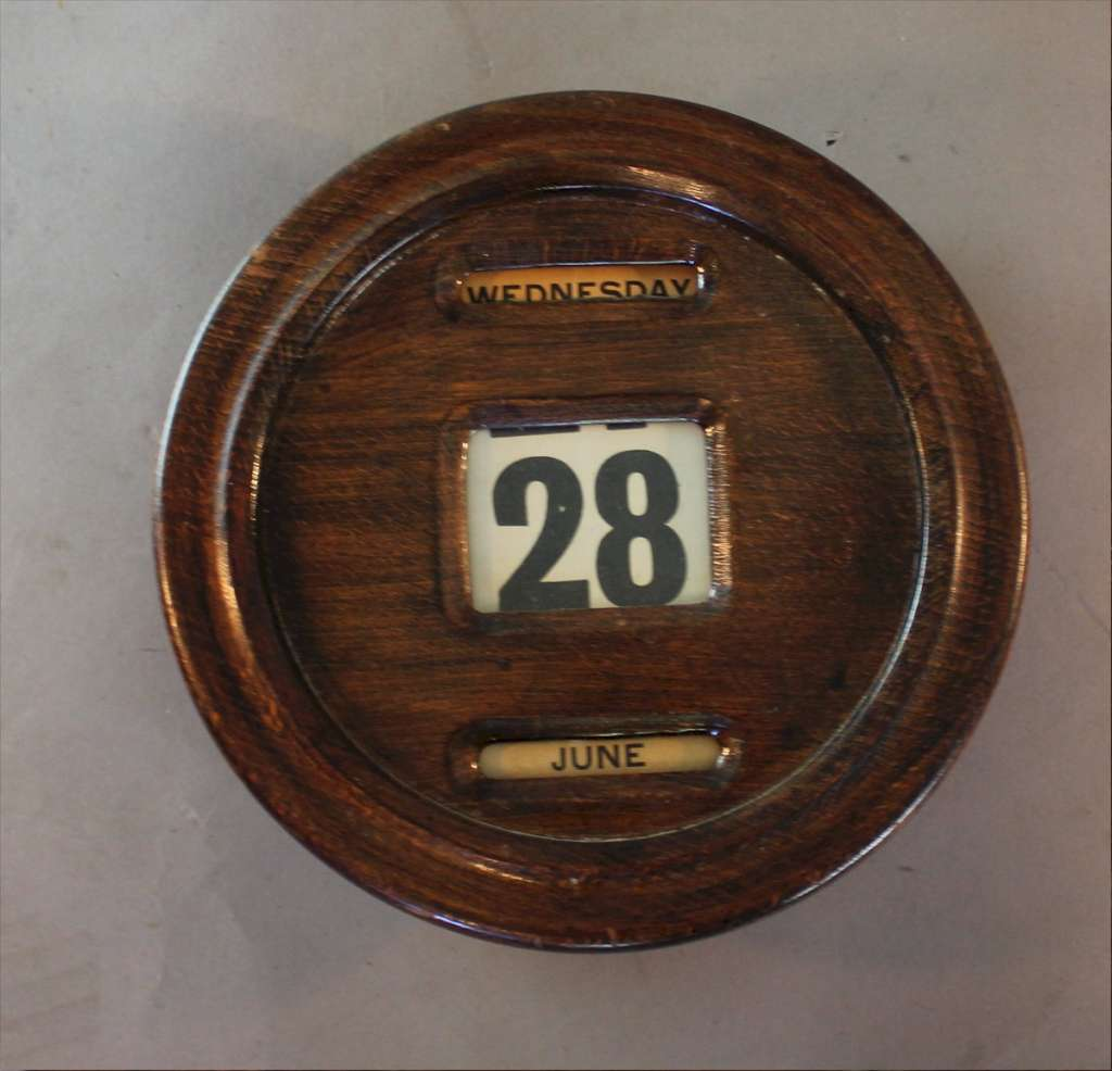 Edwardian office wall mounted perpetual calendar c1910