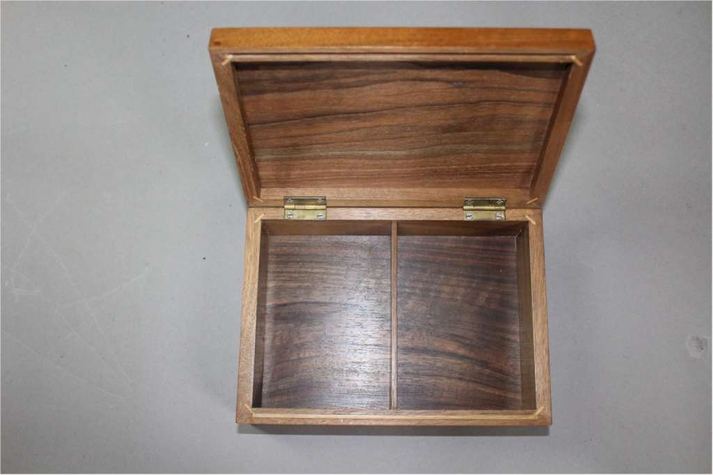 1960's rosewood and walnut box