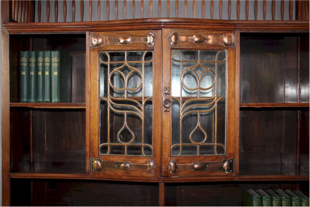 Shapland and Petter walnut display / bookcase