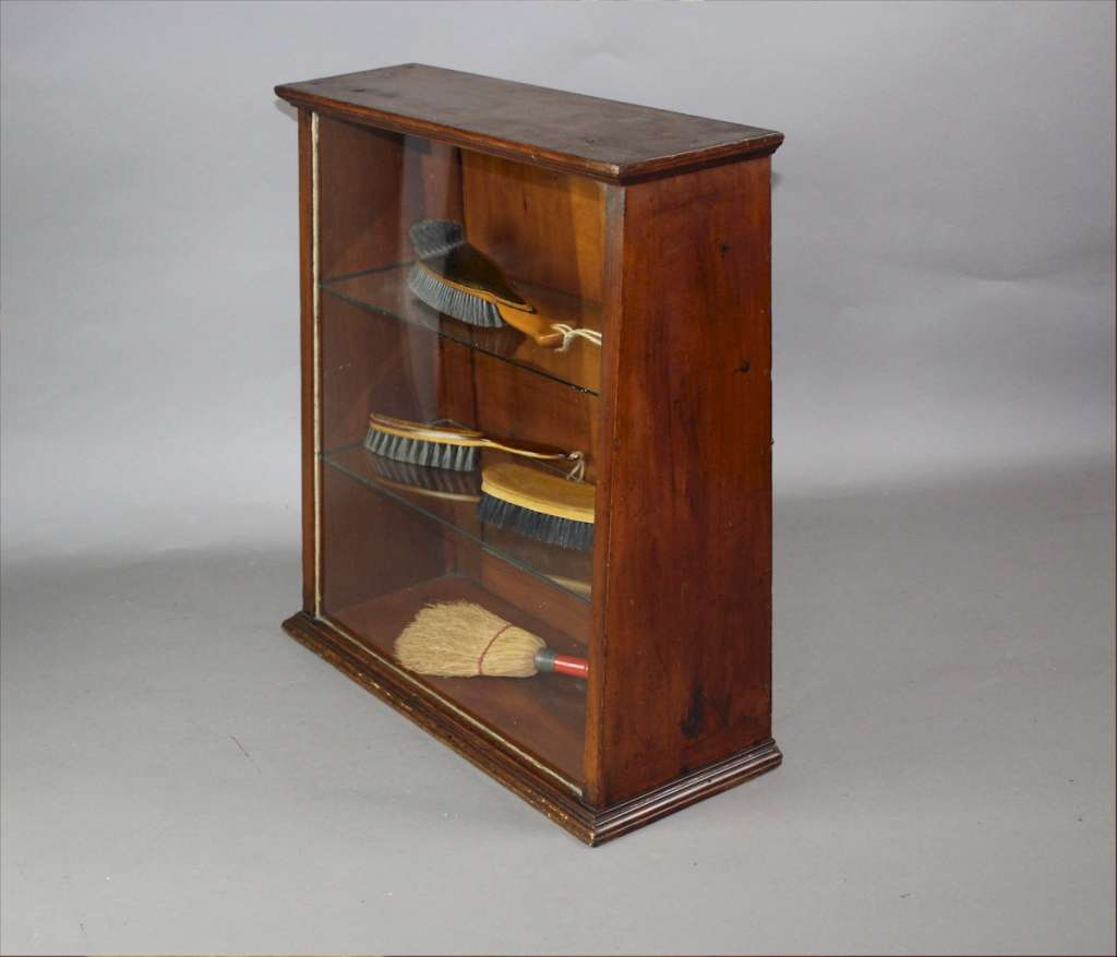 Victorian mahogany counter top display cabinet