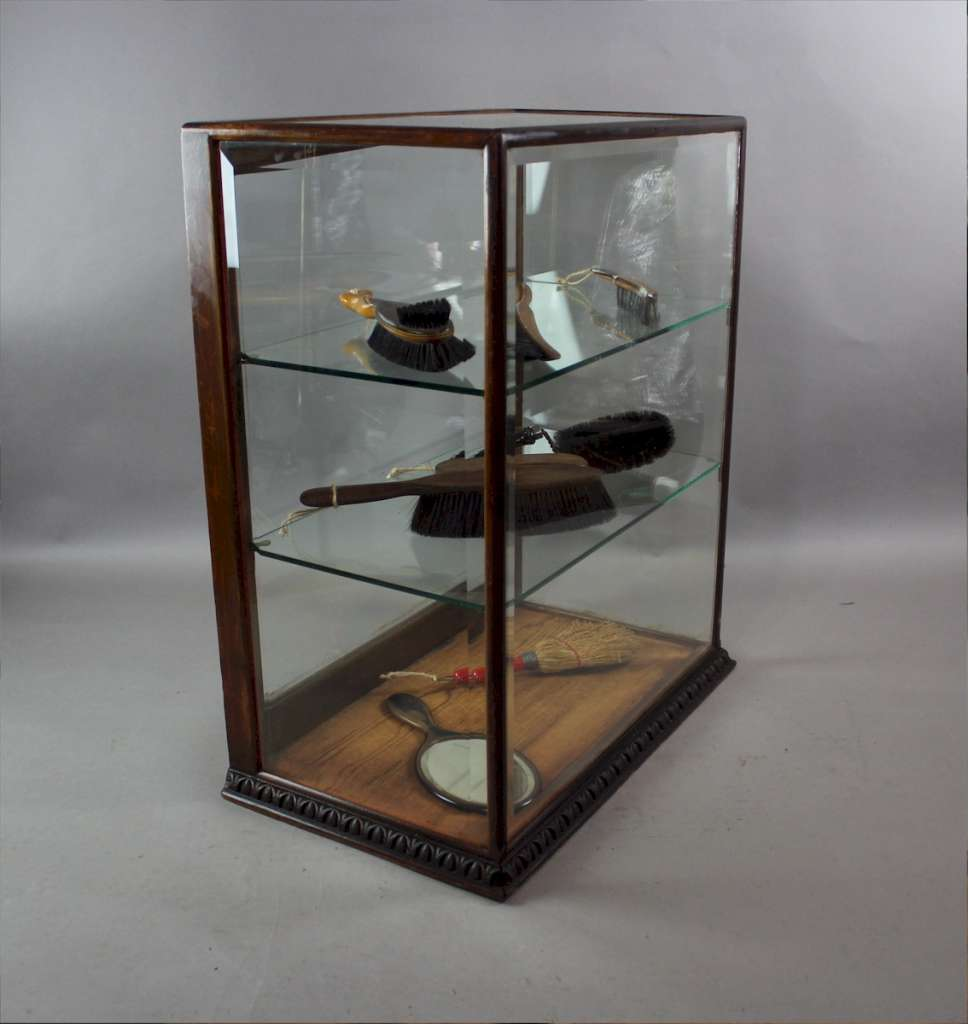 Victorian mahogany framed shop display cabinet