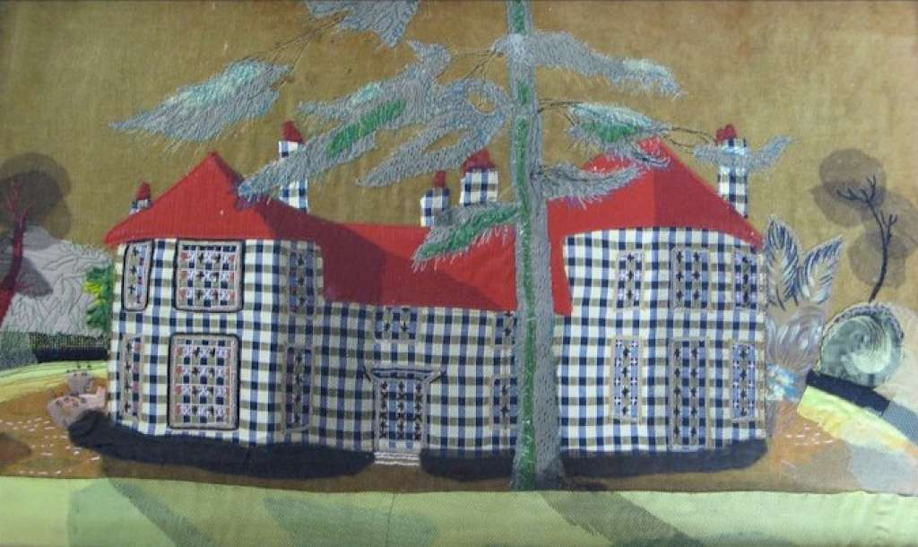 Old Vicarge in Shoreham 1964 signed applique