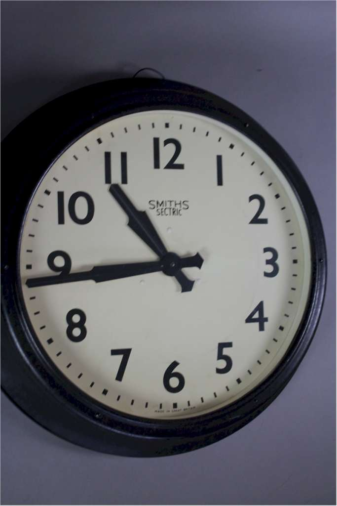 Large Smiths Sectric Factory clock 1940's