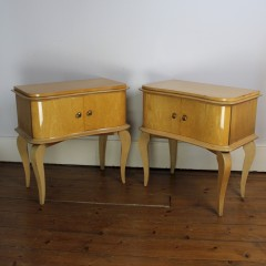 French art deco bedside cabinets
