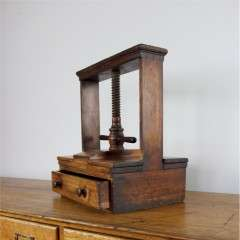 Decorative Victorian table top flower / book press with drawer