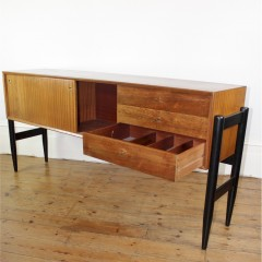 1950's Teak sideboard with ebonised legs
