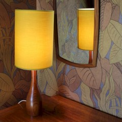 Mid-Century Teak 1960's table lamp