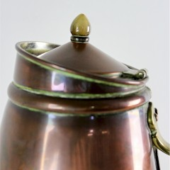 Arts and Crafts flask by W.A.S Benson