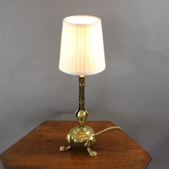 Arts and crafts period brass table lamp