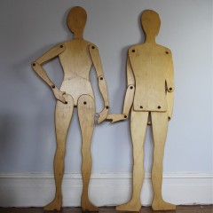 Pair of interesting articulated models of male and female