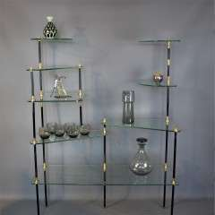 Fabulous French 1950's shelving unit