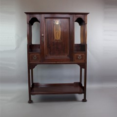 Shapland and Petter Art Nouveau mahogany music cabinet