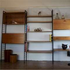 Ladderax by Staples teak shelving system c1960's