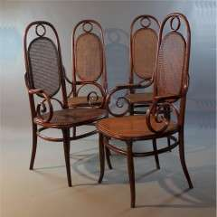 Wonderful  set of No 17 bentwood chairs by Michael Thonet