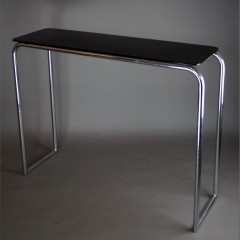 1930's Modernist chromed tubular steel console table by PEL