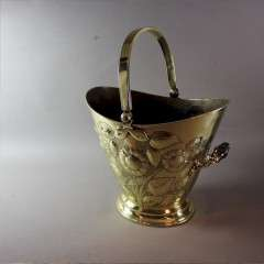 Aesthetic movement brass coal scuttle