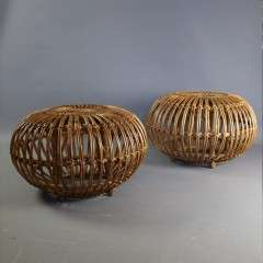 Wicker stool mid century by Albini