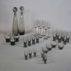 Collection of Holmegaard by Per Lutken  Aristokrat Glasses and decanters
