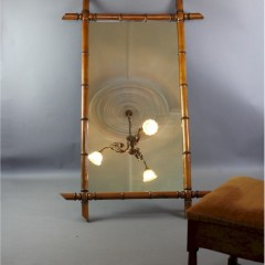 Large Victorian bamboo mirror