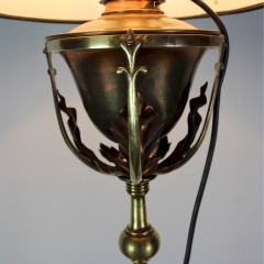 Arts and Crafts brass and copper floor / standard lamp most probably by W.A.S Benson.